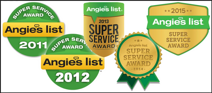 Angie's List 5 Years in a row!