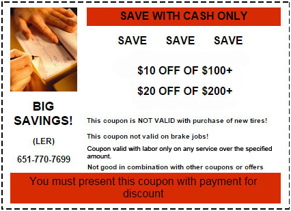 Lake Elmo Auto Coupon